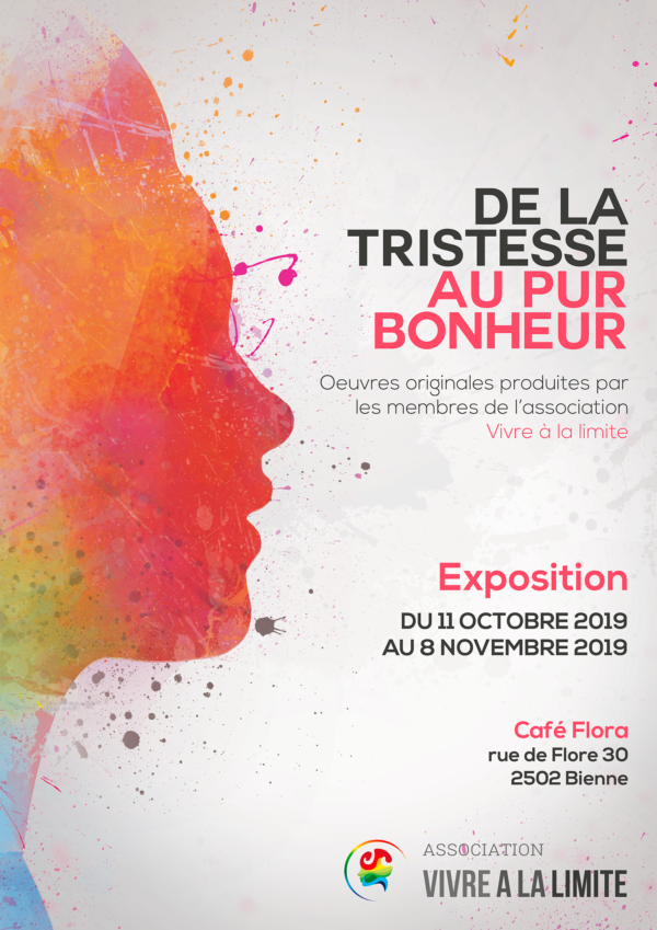 Vernissage le jeudi 10.10.2019 à 17h30 au Café Flora, Rue de Flore 30 à Bienne